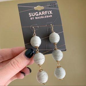 NWT Baublebar Grey Triad Ball Drop Earrings